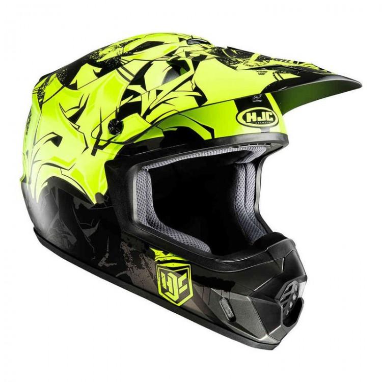 Casca moto HJC CS MX II GRAFFED verde