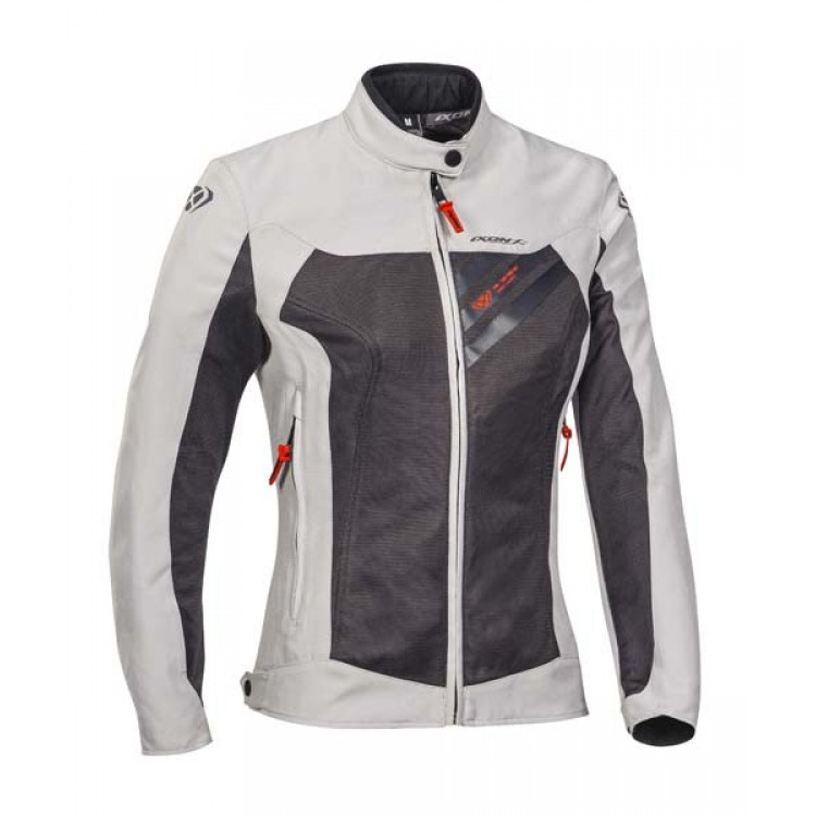 Jacheta moto dama textil IXON ORION alb - gri